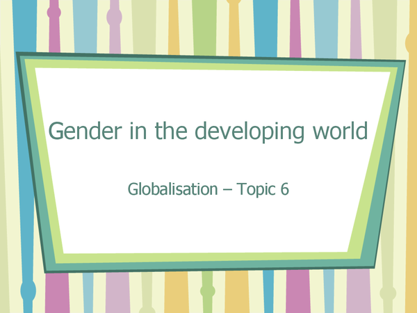 Preview of Gender in the developing world