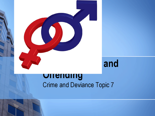 Preview of Gender issues and Offending