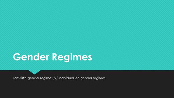 Preview of Gender Regimes