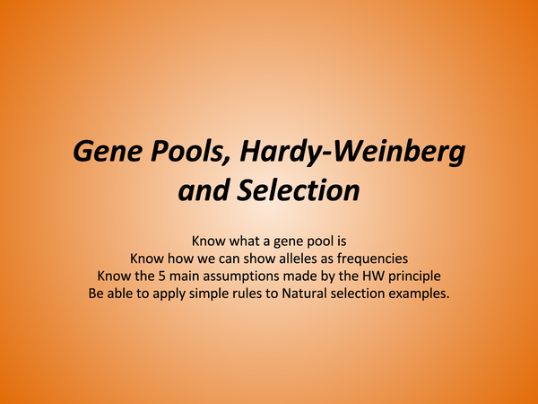 Preview of Gene Pool through to Selection