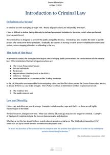 Preview of General Principles