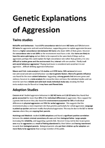 Preview of Gentic Explanations of Human Agression