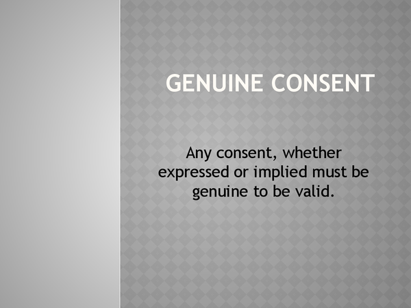 Preview of Genuine Consent