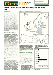 Preview of Geo file on Polish Migration to the UK