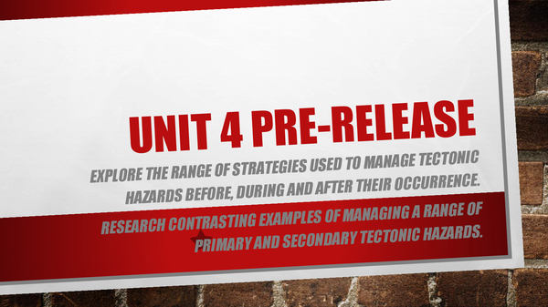 Preview of GEOG4- Tectonic activity and hazards [2014] pre-release series: #4- pre-release revision PPT.