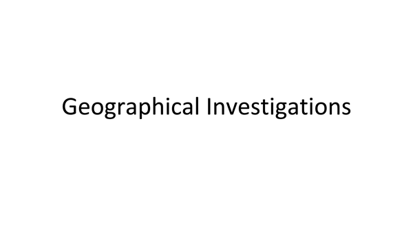 Preview of Geographical Investigations:Questions+Answers