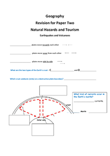 Preview of Natural Hazards Revision Booklet