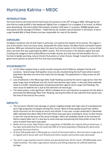 Preview of GEOGRAPHY A2 OCR hurricane katrina case study notes