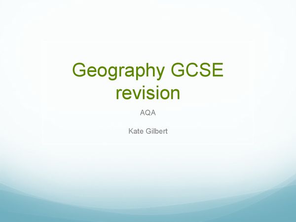 Preview of Geography AQA GCSE Fold Mountains & Earthquakes
