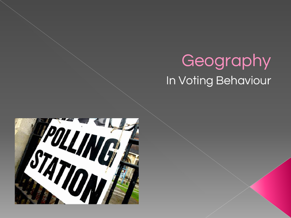 Preview of Geography as a factor affecting voting behaviour in the UK