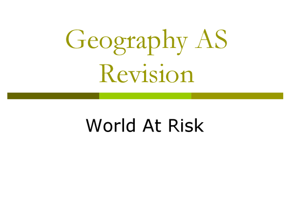 Preview of Geography AS Revision Bits
