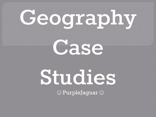 Preview of Geography Case Studies