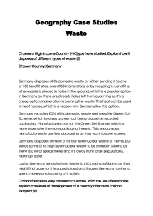 Preview of Geography Case Studies - Waste