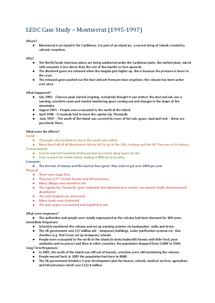 Preview of GCSE Geography Case Study - Montserrat