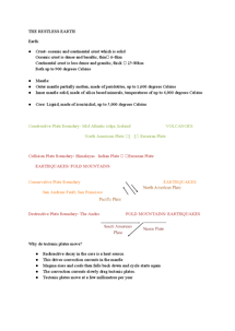 Preview of Geography Edexcel B Dynamic Planet full notes