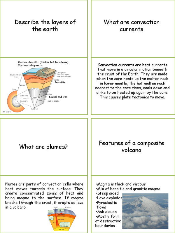 Preview of Geography Edexcel B Dynamic Planet Unit 1 REVISION CARDS