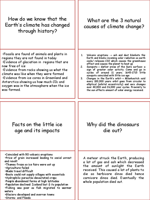 Preview of Geography Edexcel B Dynamic Planet Unit 2 REVISION CARDS