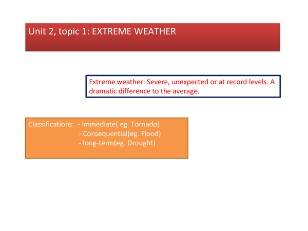 Preview of Geography Extreme weather