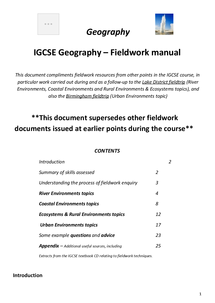 Preview of Geography fieldwork skills booklet