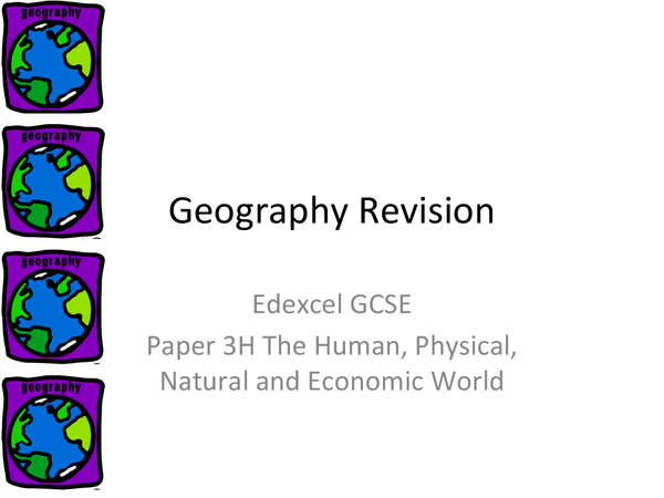 Preview of Geography GCSE edexcel Complete revision notes