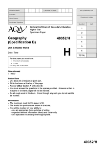aqa geography level essay mark scheme Hello, i have recently started my geography a level, and i was wondering what the structure is for a 20 marker to gain the optimum amount of marks i am on.