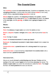 Preview of Geography: The Coastal Zone - Revision Guide