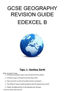 Preview of Geography Unit 1 GCSE Edexcel