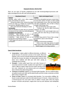 Preview of Geography Unit 1 World At Risk