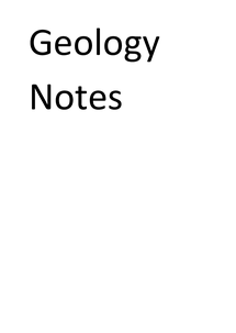 Preview of Geology GCSE Notes: minerals and thier identification and the rock cycle