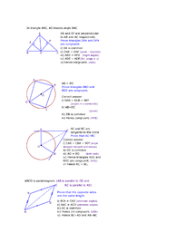 Preview of Geometric Proofs Maths GCSE