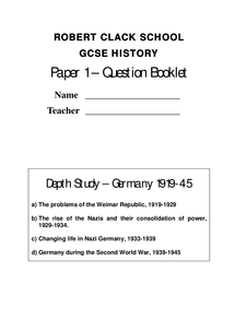 Preview of German depth study Notes