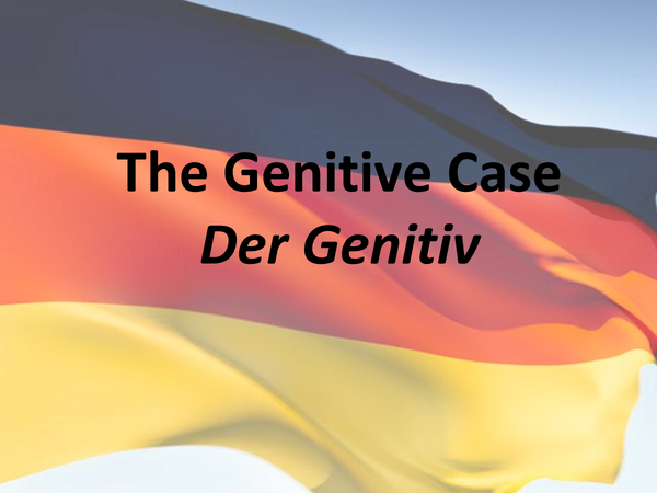 Preview of German - Genitive Case PPT