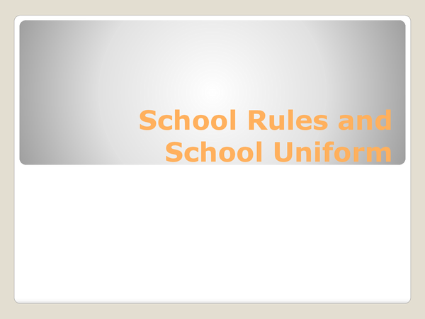Preview of German My School Rules and School Uniform