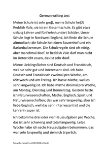 Preview of German Writing Test