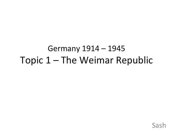 Preview of Germany 1914 - 45: Control and Opposition