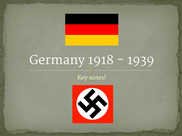 Preview of Germany 1918 - 1939 History Powerpoint