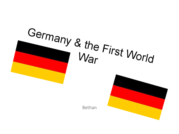 Preview of Germany and the First World War