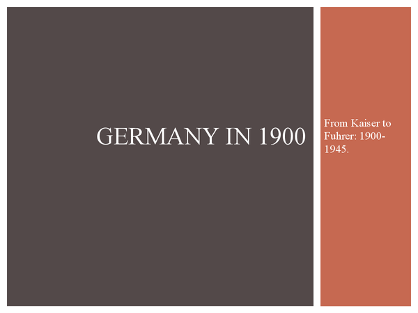 Preview of Germany in 1900