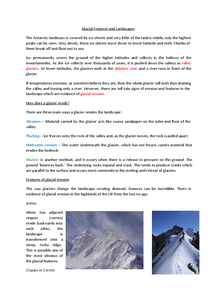 Preview of Glacial Features and Landforms