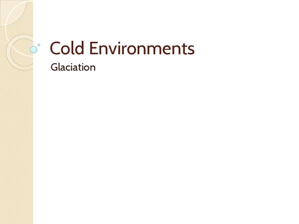 Preview of Glaciation Slideshow