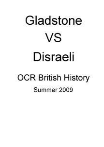 Preview of Gladstone VS Disraeli
