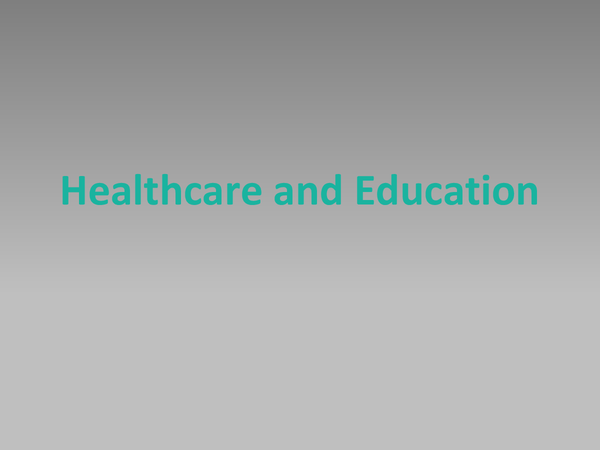 Preview of Global Development Healthcare and Education