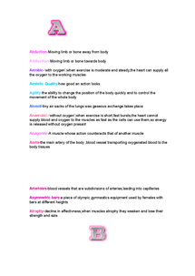 Preview of Glossary of key words for edexcel GCSE physical education