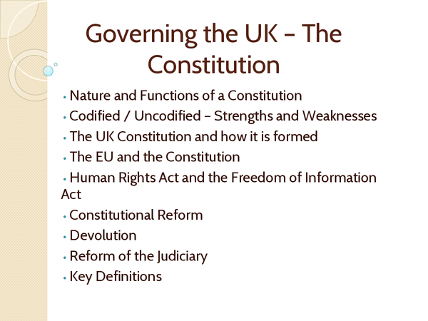 Preview of Governing the UK - the Constitution
