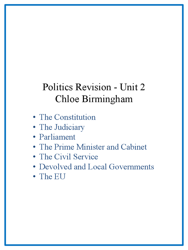Preview of Government and Politics AS Unit 2 Revision Guide AQA