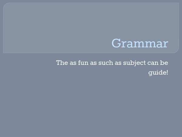 Preview of Grammar