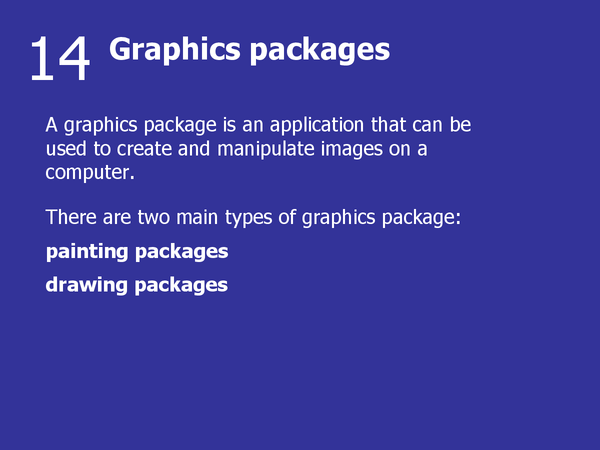 Preview of Graphics Packages