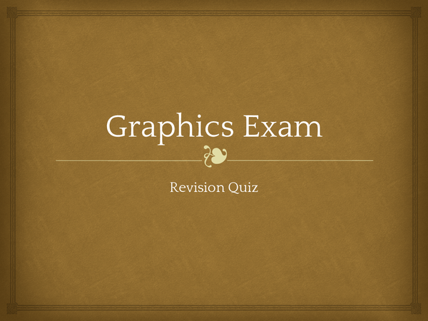Preview of Graphics powerpoint quiz