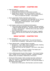 Preview of Great Gatsby - Chapters 1 and 2