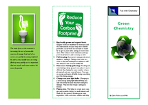 Preview of Green Chemistry leaflet